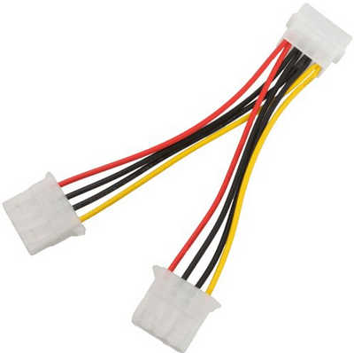 2 Pieces Internal YPower Split 4 Pin Molex Cable