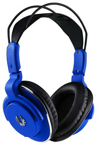 BitFenix Cobalt Blue Flo Headset with Microphone