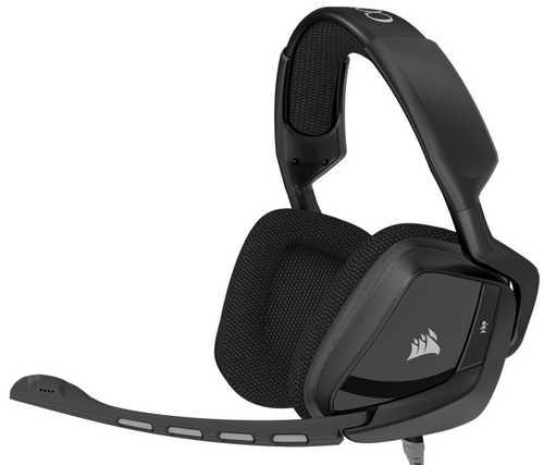 Corsair VOID Surround Hybrid Stereo Gaming Headset with Microphone, Dolby 7.1 USB Adapter Carbon