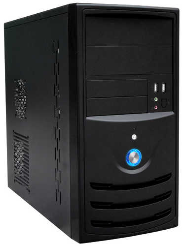 Aywun 201 USB3.0 Black Micro ATX Tower Case with 500W PSU