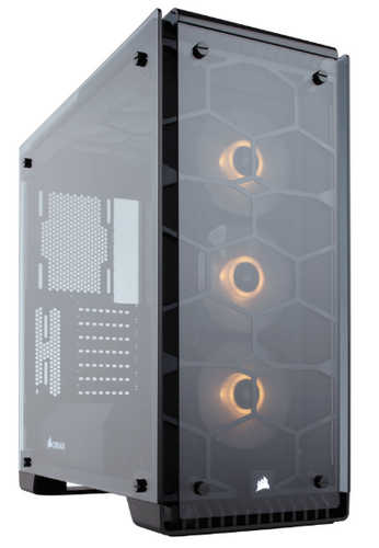 Corsair Crystal Series 570X RGB ATX Mid-Tower Case Black with Four-panel tempered glass Window Panel