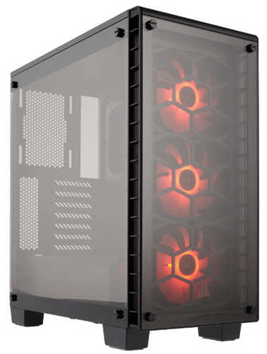 Corsair Crystal Series 460X RGB ATX Mid-Tower Case with Four-panel tempered glass Window Panel