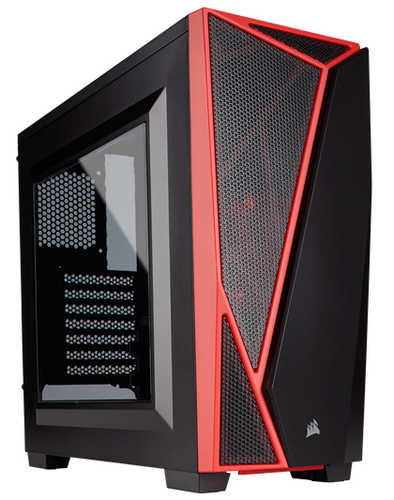 Corsair Carbide Series SPEC-04 Black/Red Mid-Tower Gaming Case with Side Window Panel