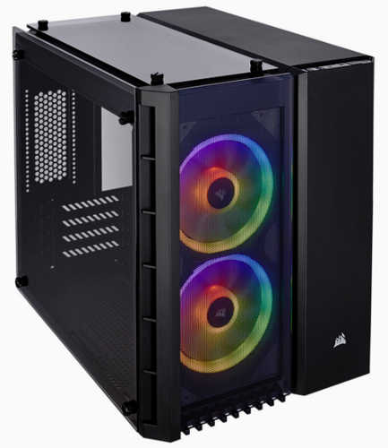 Corsair Crystal Series 280X RGB Tempered Glass Micro ATX Case with Side Window Panel