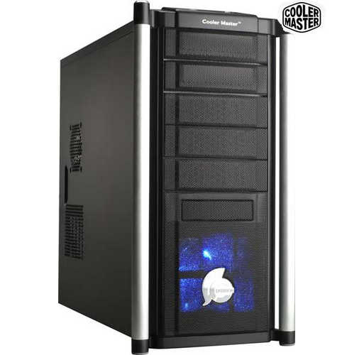 "Coolermaster Centurion 532 RC-532 Aluminum Bezel ATX Tower Case with 400W PSU + 3.5"" 2-Ports USB3.0 Front Bay"