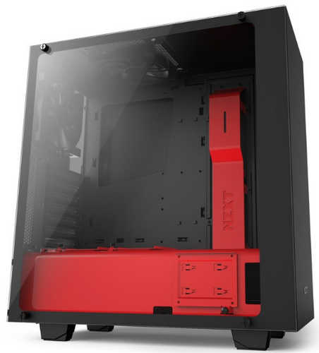 NZXT Source S340 Elite Matte Black/Red USB3.0 Tower Case with Side Window Panel