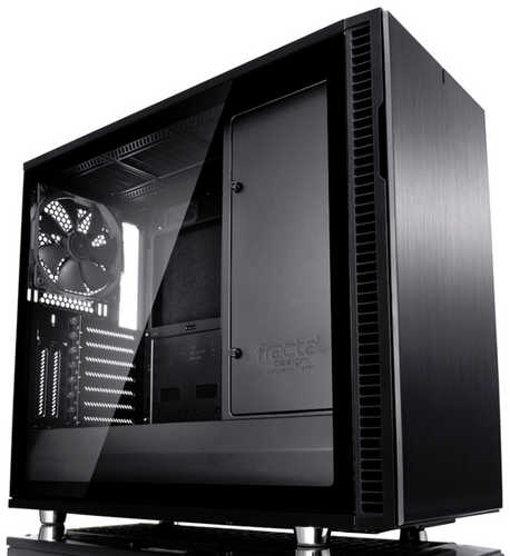 Fractal Design Define R6 Blackout Tempered Glass Black Tower Case with Side Window