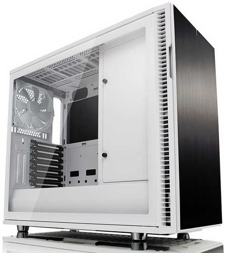 Fractal Design Define R6 Blackout Tempered Glass White Tower Case with Side Window