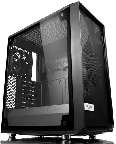 Fractal Design Meshify C Blackout Tempered Glass Tower Case with Side Window No DVD Bay
