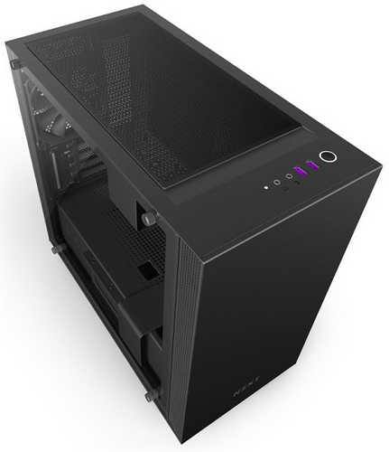 NZXT H400i Black CAM-powered Premium Micro ATX mATX Case with Side Window Panel