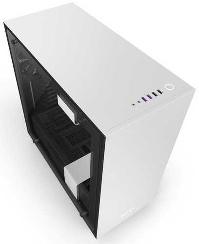 NZXT H700i Matte White CAM-powered Premium ATX Case with Side Window Panel
