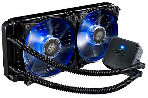 Coolermaster Seidon 240P Blue LED Water Cooler Universal Socket CPU Cooler