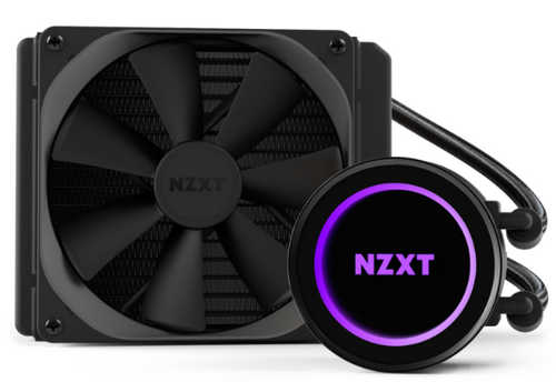 NZXT Kraken M22 120mm Liquid Cooler with RGB Lighting Effects Universal Socket CPU Cooler