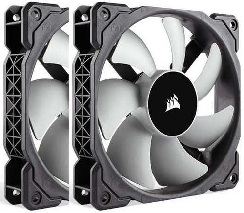 120mm 12cm Corsair ML120 PWM Premium Magnetic Levitation Fan Twin Pack