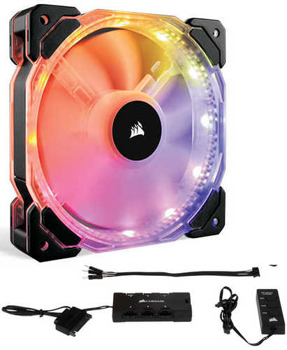 120mm 12cm Corsair HD120 RGB LED High Performance PWM Fan with Controller