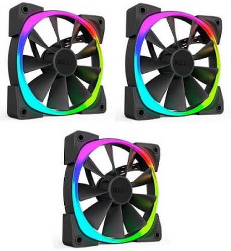 140mm 14cm NZXT Aer RGB LED Case Fan Triple Pack