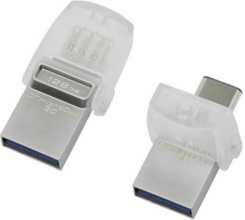 128GB Kingston DataTraveler microDuo 3C USB 3.0/3.1 + Type-C flash drive