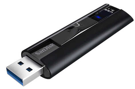 256GB SanDisk Extreme Pro CZ880 USB 3.1 Solid State Flash Drive