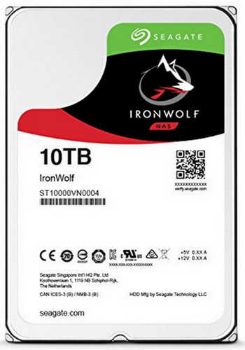 10TB 10000GB Seagate ST10000VN0004 IronWolf NAS HDD SATA III 6.0Gb/s 256MB Cache for NAS Systems