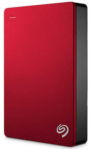 "External 2.5"" 5TB 5000GB Seagate STDR5000303 Backup Plus USB3.0, Red Portable Drive"