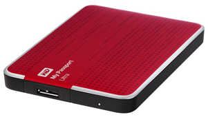 "External 2.5"" 2TB 2000GB Western Digital WDBMWV0020BRD My Passport Ultra Slim USB3.0 Red Portable Drive Mac Compatible"