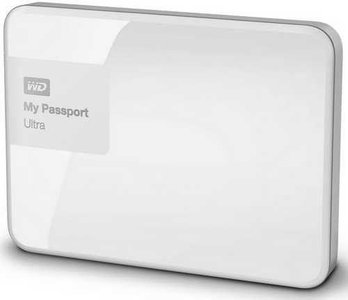 "External 2.5"" 2TB 2000GB Western Digital WDBBKD0020BWT My Passport Ultra USB3.0 White Portable Drive Mac Compatible"