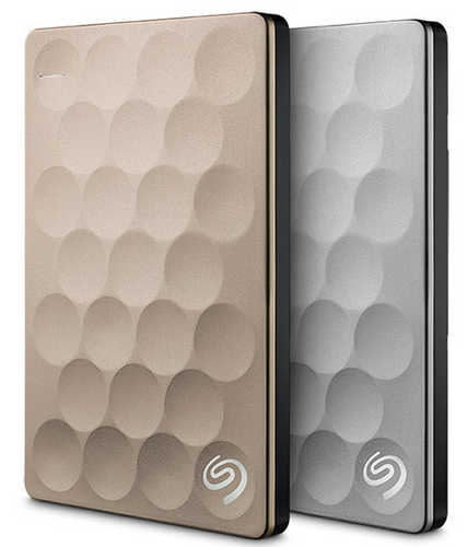 "External 2.5"" 2TB 2000GB Seagate STEH2000301 Backup Plus Ultra Slim USB3.0 Gold Portable Drive"