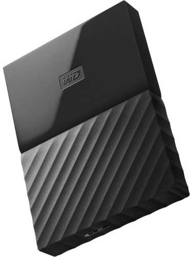 "External 2.5"" 1TB 1000GB Western Digital WDBFKF0010BBK-WESN My Passport Black USB3.0 Portable Drive for Mac"