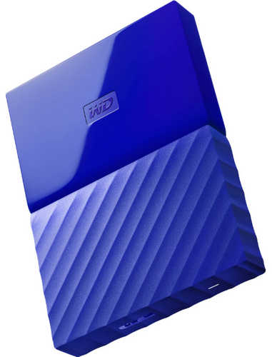 "External 2.5"" 2TB 2000GB Western Digital WDBYFT0020BBL-WESN My Passport Blue USB3.0 Portable Drive"