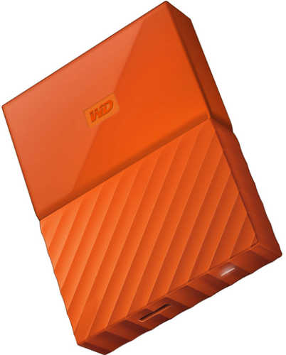"External 2.5"" 1TB 1000GB Western Digital WDBYNN0010BOR-WESN My Passport Orange USB3.0 Portable Drive"