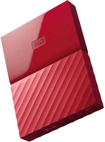 "External 2.5"" 1TB 1000GB Western Digital WDBYNN0010BRD-WESN My Passport Red USB3.0 Portable Drive"