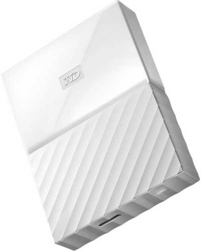 "External 2.5"" 1TB 1000GB Western Digital WDBYNN0010BWT-WESN My Passport White USB3.0 Portable Drive"