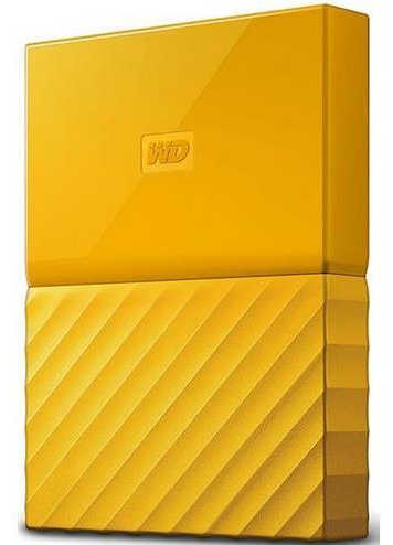 "External 2.5"" 4TB 4000GB Western Digital WDBYFT0040BYL-WESN My Passport Yellow USB3.0 Portable Drive"