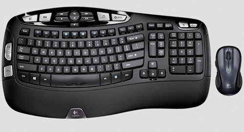 Logitech MK550 Wireless Desktop Set Wave Combo Black Keyboard & Mouse