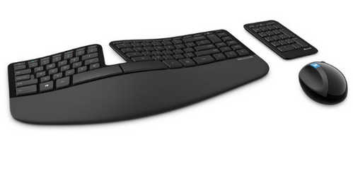 Microsoft Sculpt Ergonomic Wireless Desktop Set Black Keyboard & Mouse