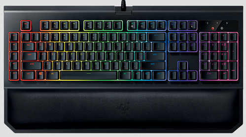 Razer BlackWidow Chroma V2 Mechanical Gaming Keyboard US Layout FRML Yellow Switch