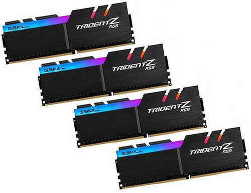 32GB DDR4 G.Skill Trident Z RGB  F4-3200C16Q-32GTZR 3200MHz CL16-18-18-38-2N (4x8GB)