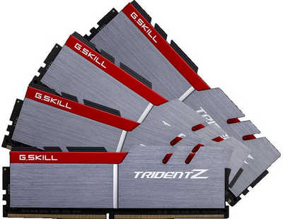 64GB DDR4 G.Skill Trident Z F4-3200C16Q-64GTZ 3200MHz CL16-18-18-38-2N (4x16GB)
