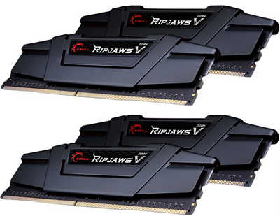 64GB DDR4 G.Skill Ripjaws V F4-3000C15Q-64GVR 3200MHz CL16-18-18-38-2N (4x16GB)