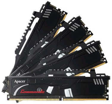 32GB DDR4 Apacer APCOM3248D42400C16 Commando Overclocking 2400MHz 16-16-16-36 (4x8GB)