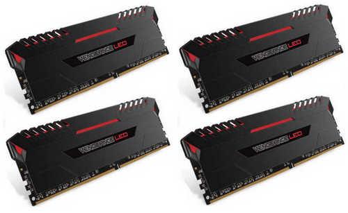 32GB DDR4 Corsair CMU32GX4M4C3466C16R Vengeance Red LED 3466MHz CL16-18-18-36 (4x8GB)