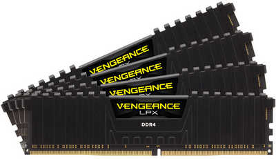 32GB DDR4 Corsair CMK32GX4M4A2800C16 Vengeance LPX Low Profile Heat Spreader 2800Mhz CL16-18-18-36 (4x8GB)