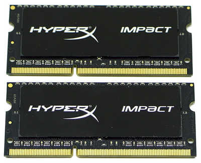 16GB DDR3 Kingston HX318LS11IBK2/16 HyperX Impact 1866MHz CL11 SO-DIMM 204-pin Notebook RAM (2x8GB)