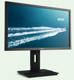 "27"" Acer B276HLC Full HD 6ms Height Adjustment DVI, Display Port LED Monitor Built in Speakers"