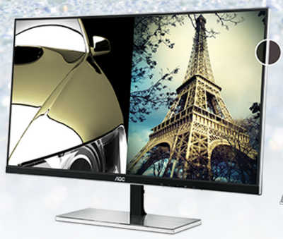 "27"" AOC I2777FQ Ultra-Narrow & Thin 5ms HDMI LED Monitor Built in Speakers"