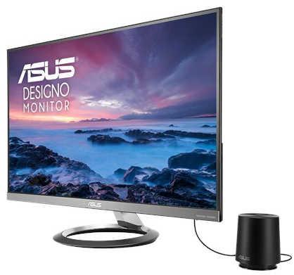 "27"" ASUS Designo MZ27AQ 5ms HDMI DisplayPort Ultra-slim Frameless IPS Monitor Built in Speakers"