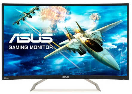 "32"" ASUS VA326H 144Hz 4ms DVI, HDMI, Curved Gaming Monitor Built in Speakers"