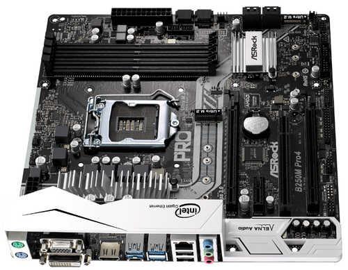 ASRock B250M-PRO4 Intel B250 LGA1151, 4xDDR4, PCIE, Int. Graphic, USB3.0 mATX