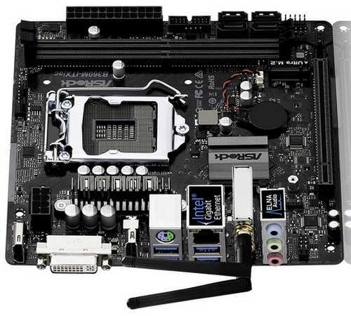 ASRock B360M-ITX/AC LGA1151, DDR4, PCIE, Int. Graphic, Mini-ITX