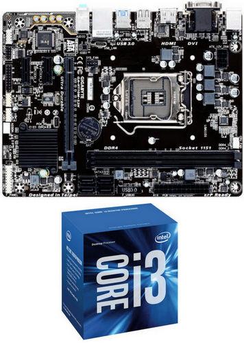 Gigabyte GA-H110M-S2H LGA1151 Motherboard + Intel i3 7100 3.90GHz 3MB Cache LGA1151 CPU
